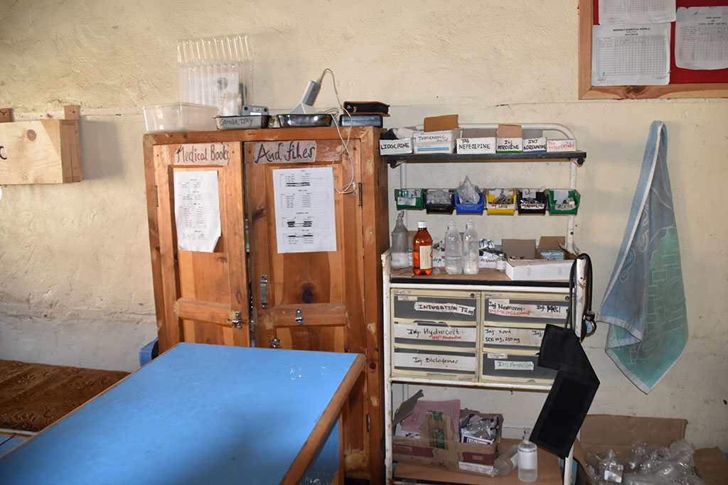 Medicine in a cabinet, paid for by Nepal Trust Austria.